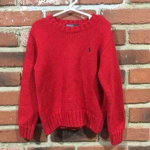 Ralph Lauren Red Sweater sz 5